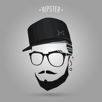 Boné jovem hipster