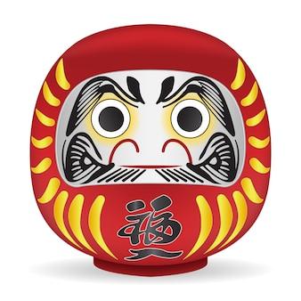 Boneca de daruma japão tradução no corpo é a fortuna