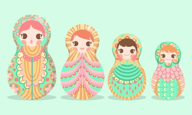 Boneco de arte russa matryoshka russo