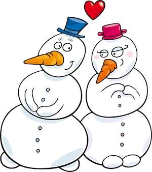 Boneco de neve apaixonado