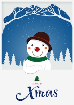 Boneco de neve de natal para o feriado de natal