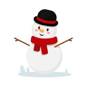 Boneco de neve isolado no fundo branco