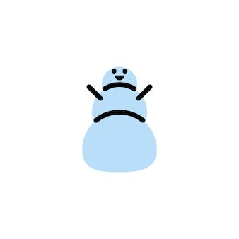 Boneco de neve. logotipo de vetor em estilo de linha em negrito