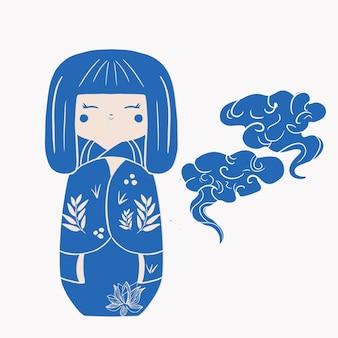 Bonecos japoneses de madeira kokeshi