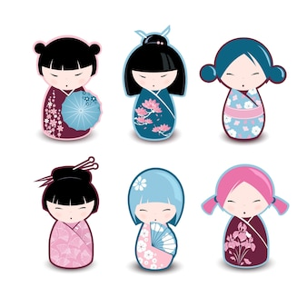 Bonecos tradicionais japoneses