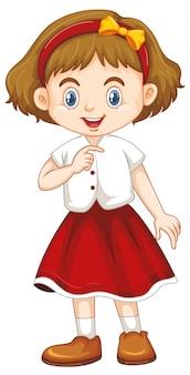 Bonita criança sorridente feliz isolada no branco