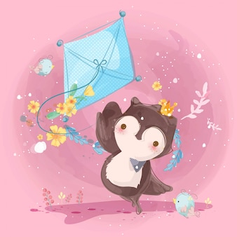 Bonita ilustração infantil de animais
