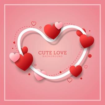 Bonito amor cartão de plano de fundo