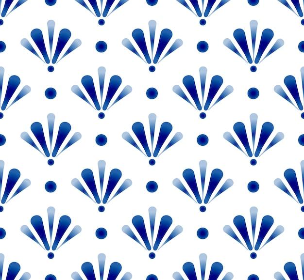 Bonito azul padrão