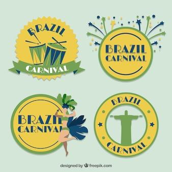 Bonito brasil emblemas carnaval