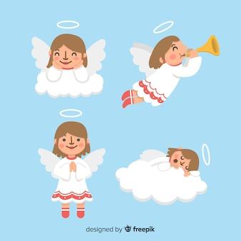 Bonito, cobrança, de, natal, anjos