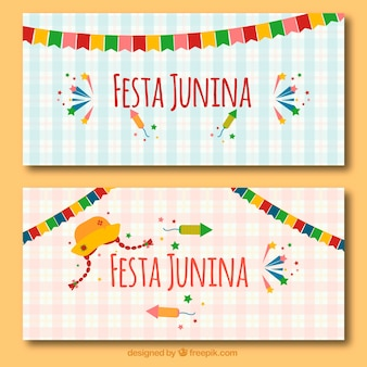 Bonito festa junina banners