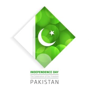 Bonito fundo de incandescência do dia da independência do paquistão
