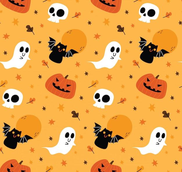 Bonito fundo sem emenda de halloween