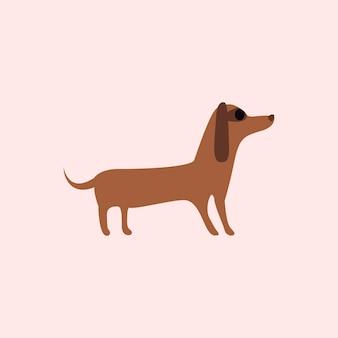 Bonito, ilustração, de, um, cão