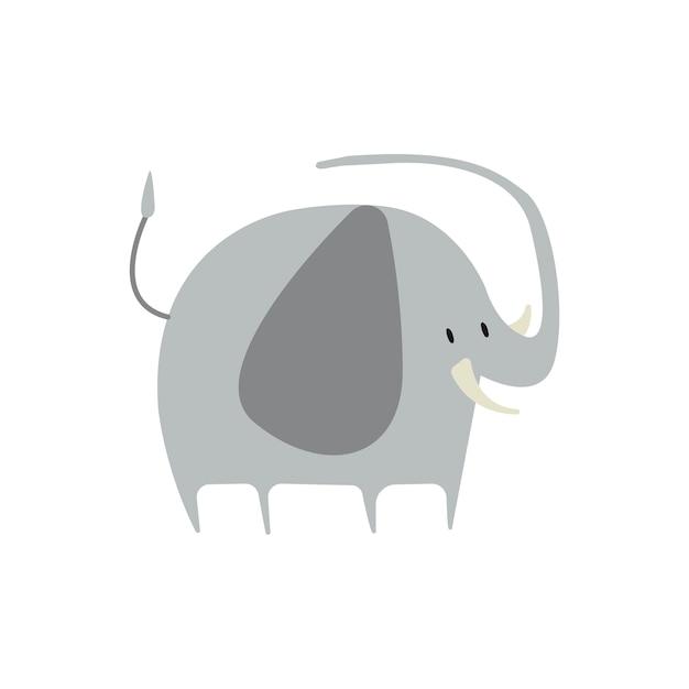 Bonito, ilustração, de, um, elefante