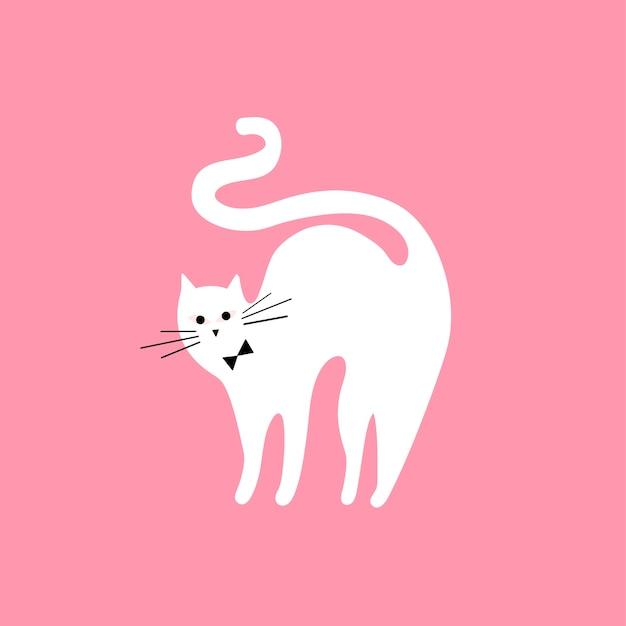 Bonito, ilustração, de, um, gato
