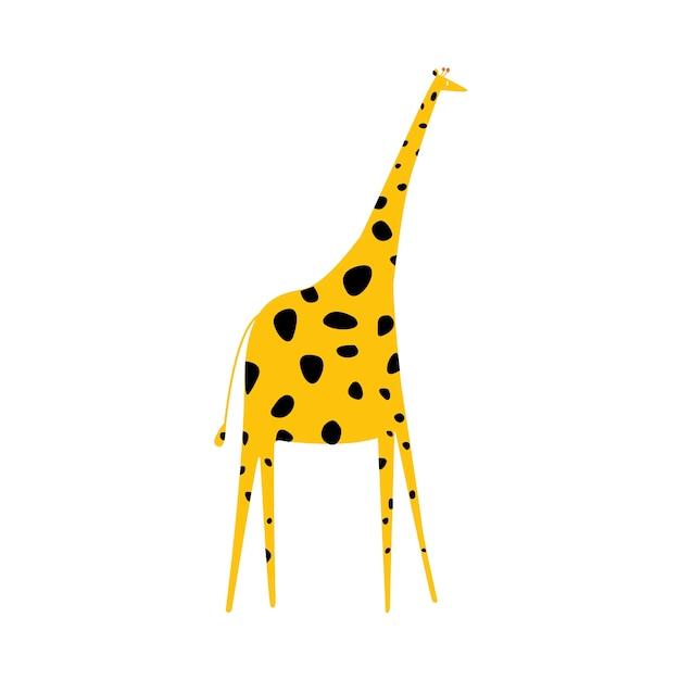 Bonito, ilustração, de, um, girafa