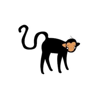 Bonito, ilustração, de, um, macaco