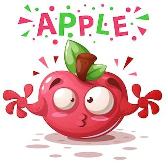 Bonito, maçã, ilustração