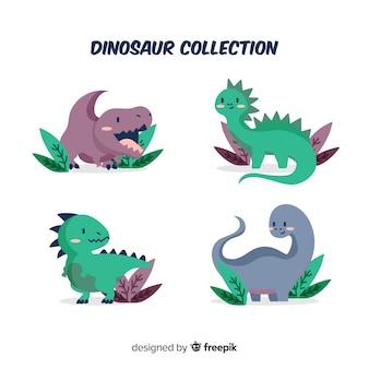 Bonito, mão, desenhado, dinossauro, cobrança