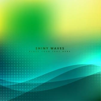Bonito onda com meios-tons