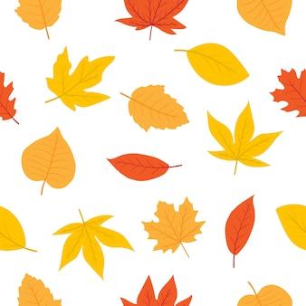 Bonito outono padrão sem emenda