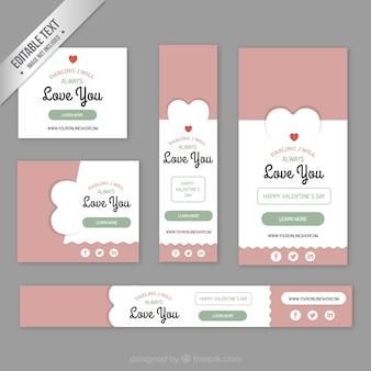 Bonito pacote banners valentine