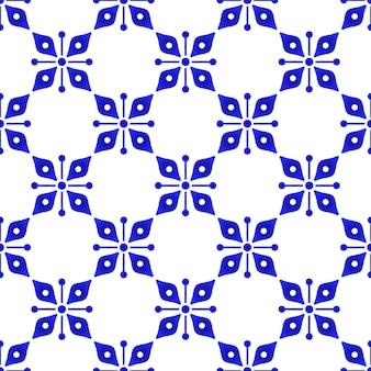 Bonito padrão azul