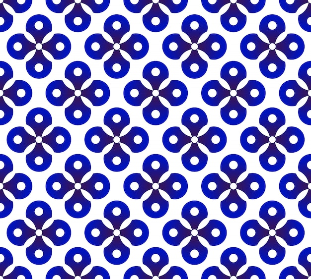 Bonito padrão de cerâmica vector