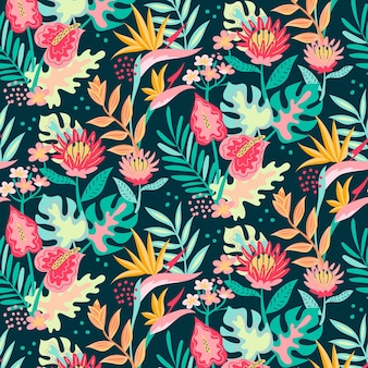 Bonito padrão floral colorido