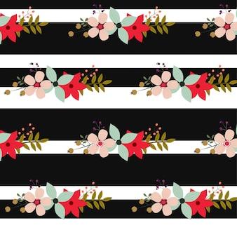 Bonito padrão floral