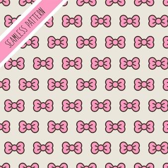 Bonito padrão sem emenda com laços rosa