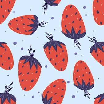 Bonito padrão sem emenda com morangos.