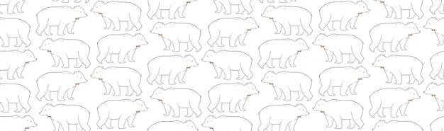 Bonito padrão sem emenda com urso polar.
