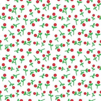 Bonito padrão sem emenda com visco para feliz natal