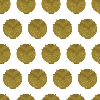 Bonito padrão sem emenda simples com repolho. colheita de ilustração, vegetais, alimentos vegetais saudáveis, vegetariano, produto agrícola. design de papel de embrulho