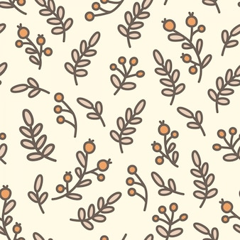 Bonito padrão sem fim de ramos de natal com bagas.