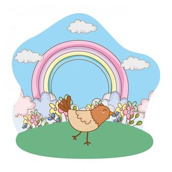 Bonito pequeno animal cartoon