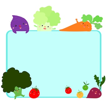 Bonito quadro vegetal vector background