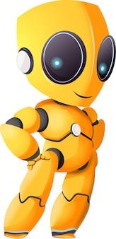 Bonito robô futurista sci fi