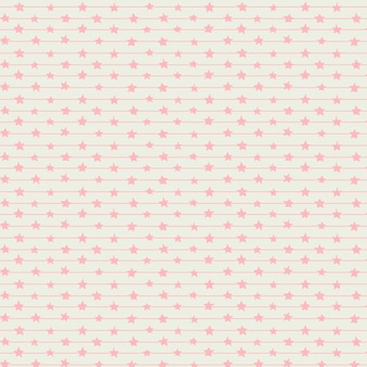Bonito rosa linhas e estrelas transparente padrão sem emenda