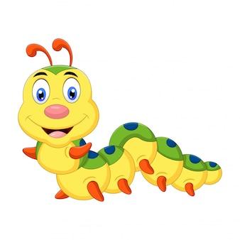 Bonito um desenho de lagarta sorrindo