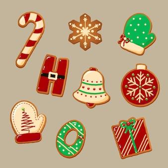 Bonitos biscoitos de gengibre para o natal