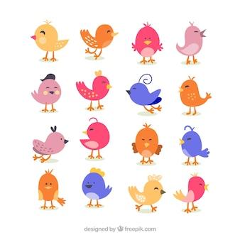 Bonitos desenhos animados pássaro retro