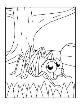 Bonitos desenhos de aranha para colorir para crianças