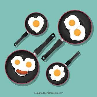 Bonitos ovos fritos