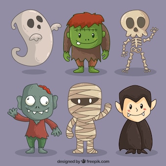 Bonitos personagens de halloween