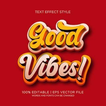 Bons efeitos de texto de vibrações