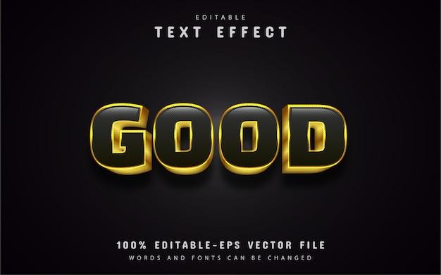 Bons efeitos de texto dourado